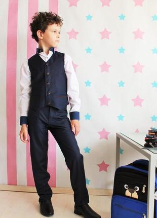 Школьный комплект для мальчика эдвин (синий,черный)