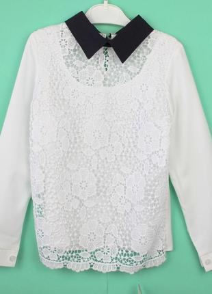 Школьная белая блузка тм angel