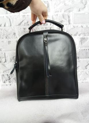 Женский кожаный рюкзак жіночий шкіряний портфель кожаный