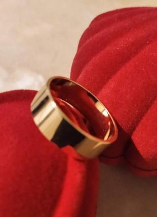 Обручальное кольцо американка 6 мм из медицинского золота