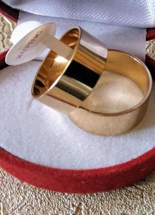 Обручальное кольцо американка 8 мм из медицинского золота