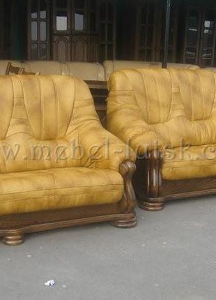 Два дивана и кресло Mercedes 3+2+1, Кожаная мебель с Европы