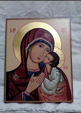 Писаные Иконы. Пара Иисус и Богородица.