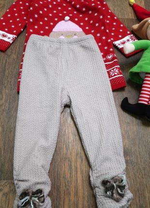 Теплые штаны лосины с флисом