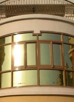Зеркальная плёнка для окон архитектурная тонировка карбон алькант