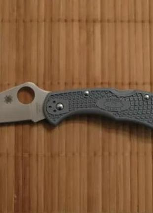 Нож Spyderco Delica 4 FLAT GROUND GRAY