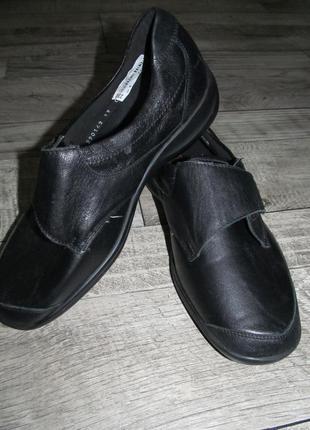 Кожаные туфли waldlaufer ortho tritt р. 40 -26см
