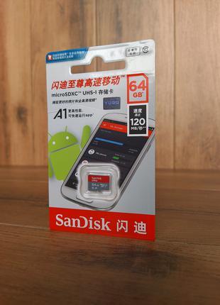 Карта памяти microSD SanDisk Ultra 64 Гб