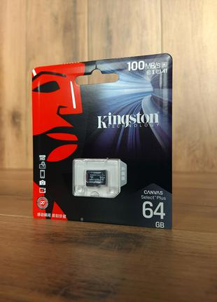 Карта памяти microSD Kingston Canvas Select Plus 64 Гб