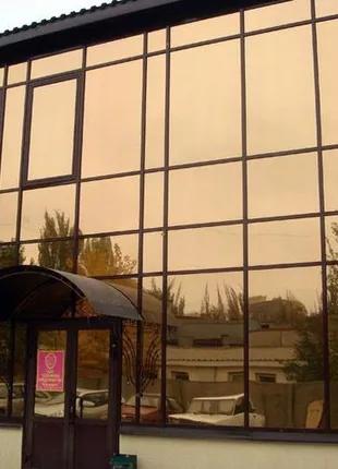 Тонировочная плёнка для окон (зеркало) тонировка архитектурная