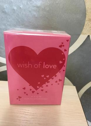 Туалетна вода wish of love (50 мл) avon