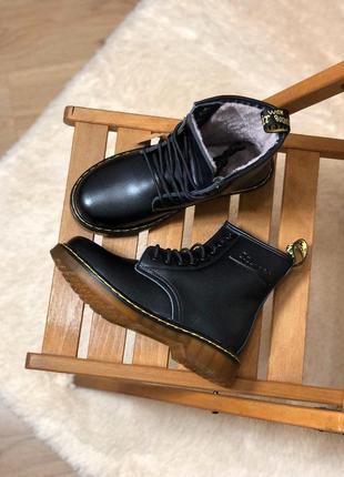 Шикарные женские кожаные зимние ботинки/ сапоги/ угги dr. mart...
