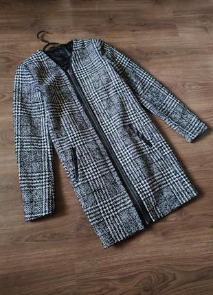 ❤финальная распродажа❤шикарное пальто с кожаными вставками