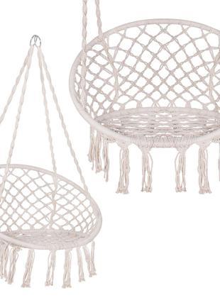 Подвесное кресло-качели плетеное Springos Biege