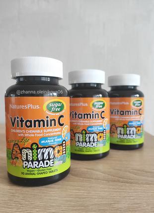 Source of Life, Animal Parade, витамин C, для детей, 90 шт