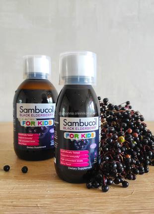 Sambucol, Черная бузина, Сироп для детей, 120 мл