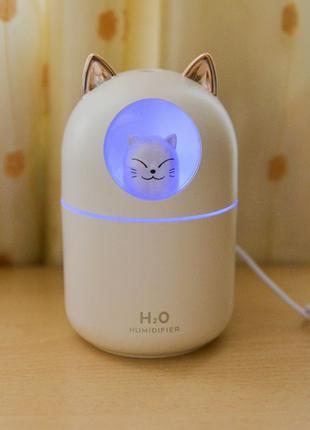 Увлажнитель воздуха USB c котом и подсветкой. Аромалампа с...