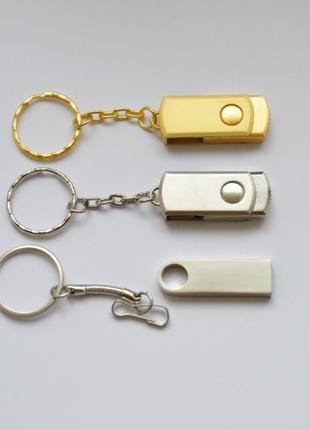 Флешка 64 Гб (USB 3.0). Реальный Объем! Золотая, серебряная 64GB