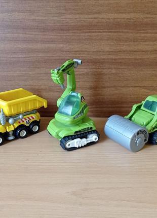 Машинки игрушечные. Строительная техника: самосвал, каток
