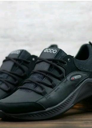 ECCO ICEFIELD 21,мужские кожаные кроссовки