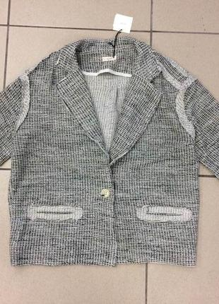 Пиджак кардиган бойфренда из ткани букле by zoe (968)