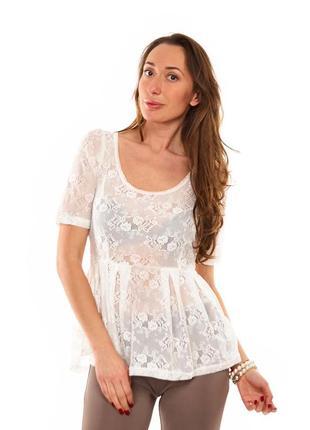 Кружевная блузка с баской only (408)