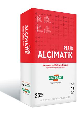 Гипсовая штукатурка Alcimatik Plus для машинного нанесения 25кг