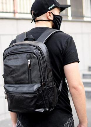 Крутой кожаный портфель. кожаный рюкзак. сумка. мужской рюкзак...