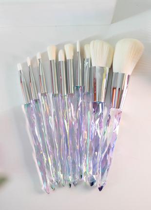 Набор кисточек для макияжа | кристаллы 💎
