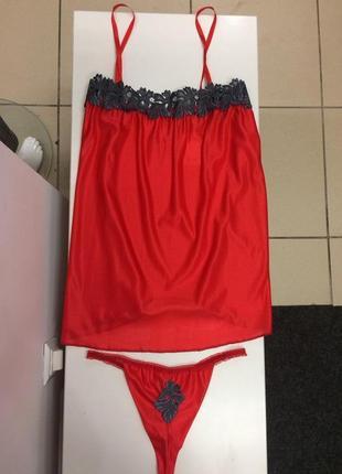 Сексуальный комплект, пеньюар+трусики,  эротическое белье lady...