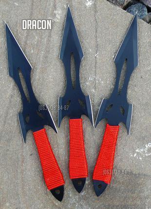 Набор 3 в 1 Ножи метательные, кинжал кунаи, нож для метания