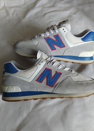 Мужские стильные замшевые кроссовки new balance nb 574 encap n...