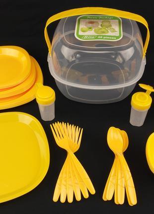 Столовый набор для пикника на 6 персон 48 предметов