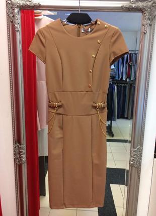 Платье цвета camel итальянского бренда rinascimento (37)