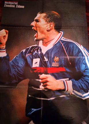 Плакат, постер двухсторонний - Z.Zidane, M.Desailly