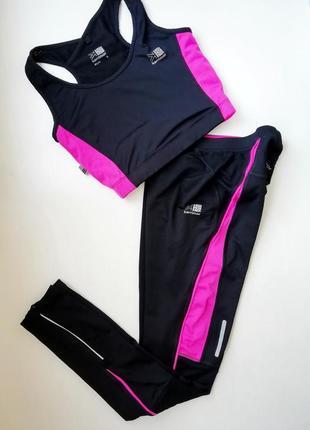 Спортивный костюм, костюм для фитнеса, лосины - размер  xs