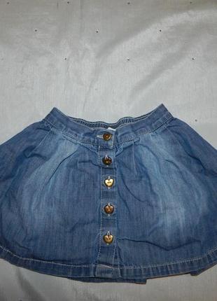 Юбка джинсовая модная 2-3 года 98 см