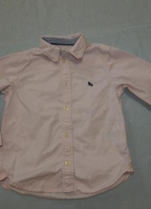 Рубашка на мальчика 2-3 года g&m с длинными рукавами