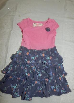 Платье  трикотажное на девочку 3 года 98см