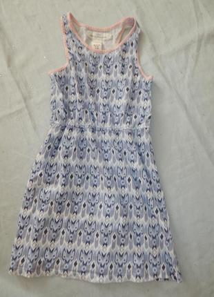 Платье трикотажное можное легкое на девочку 6-8 лет 122-128см ...