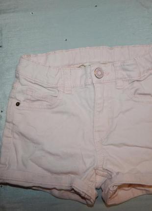 Шорты джинсовые на девочку 5-6 лет рост 116 см