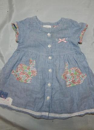 Платье на малышку 3-6мес baby