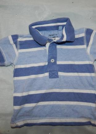 Футболка на малыша 6-9мес polo baby