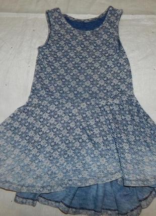 Платье трикотажное на девочку 2-3 года