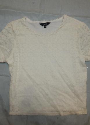 Блузка ажурная укороченная ,на девочку 12-13 лет 915 generation