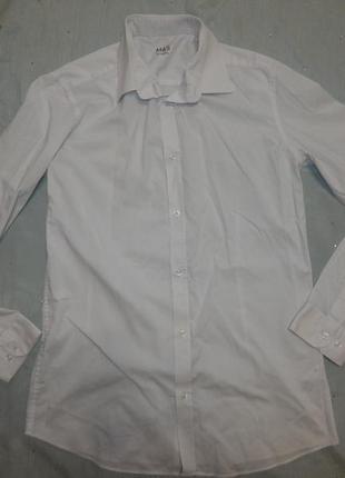 Рубашка на мальчика белая 176рост xs