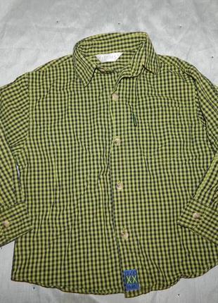 Рубашка на мальчика с длинным рукавом на 4года