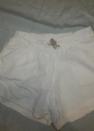 Шорты легкие белые модные  xxs zara на 14-15 лет 164см