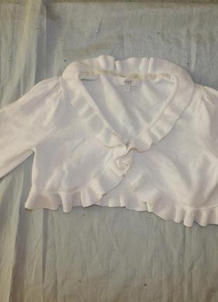 Балеро кофта нарядное белое на девочку 9-10 лет 140см