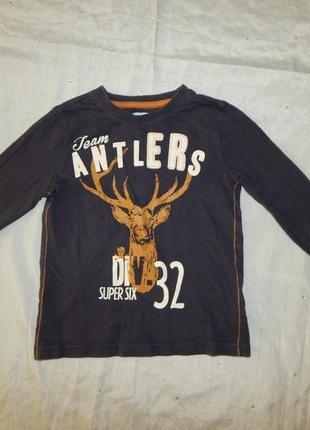 Реглан кофта футболка с длинным рукавом на мальчика 4-5 лет 110см
